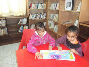 Reading together at Rachel Corrie Center in Rafah