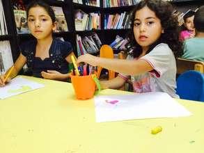 Indoor activities for children in Silwan library