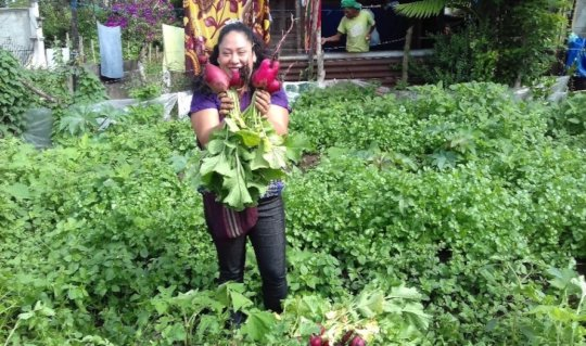 Woman farmer supported by library program