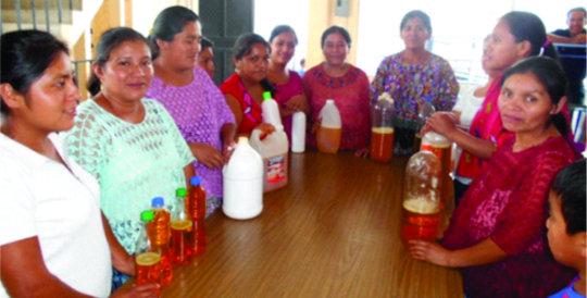 Women are entrepreneurs in Chamelco