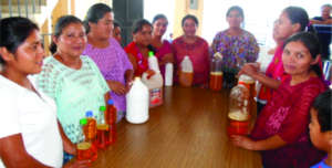 Women are entrepreneurs in Chamelco