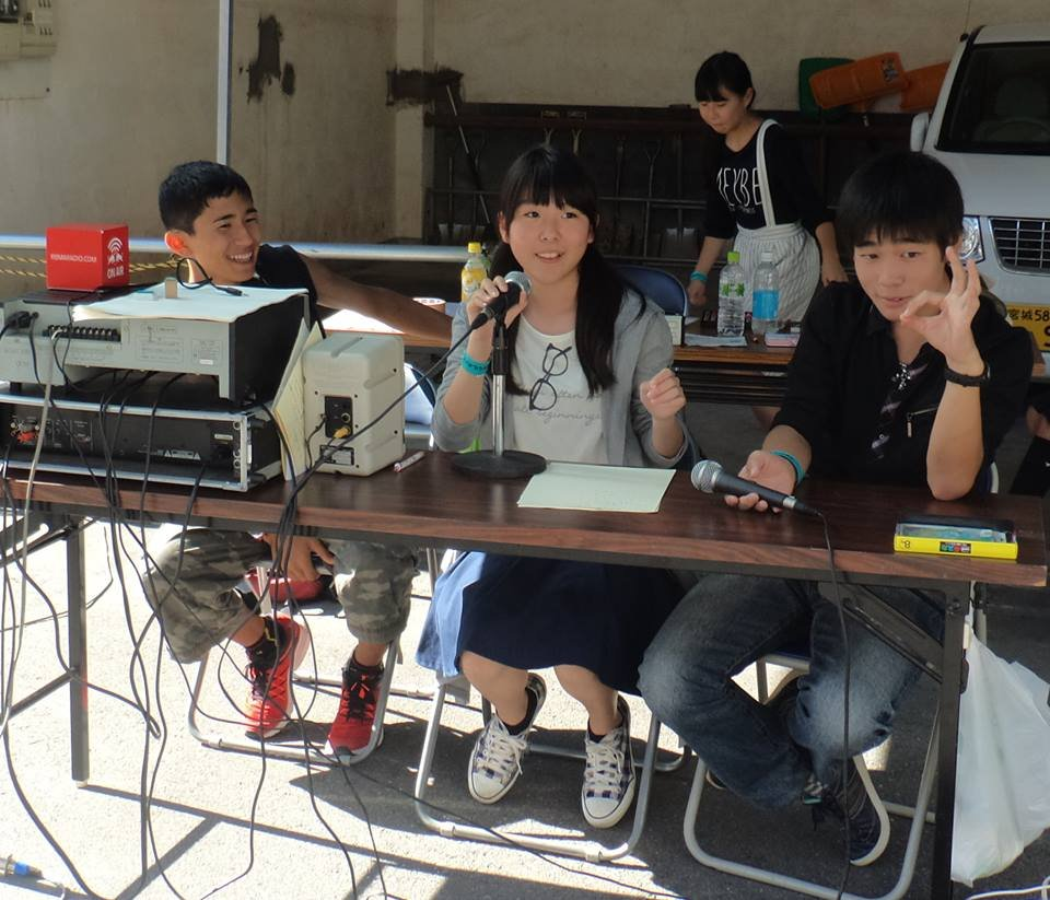 Child radio station cooperating with actual radio