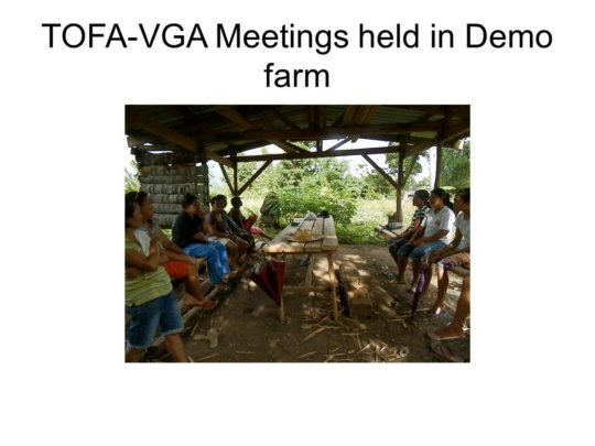 farmers meeting at their training center