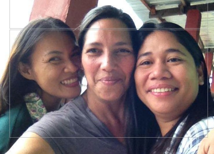 Nerissa with fellow Philippine Midwives
