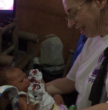 Vicki holding baby John
