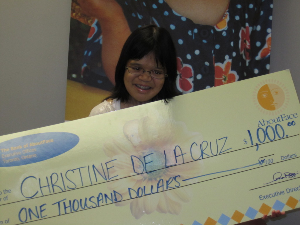 Christine and her scholarship