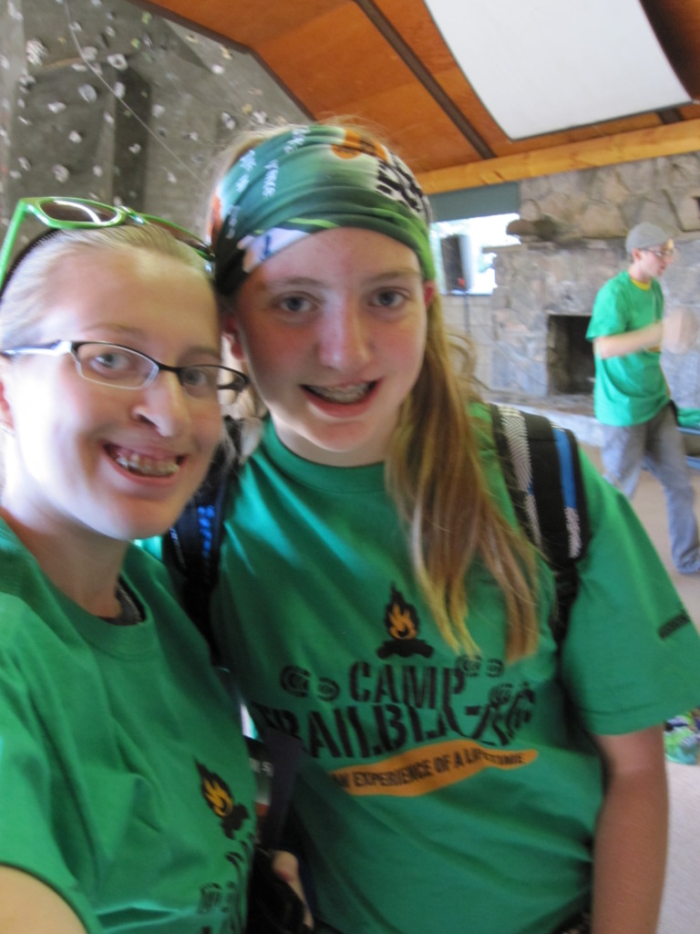 Amanda and friend from camp