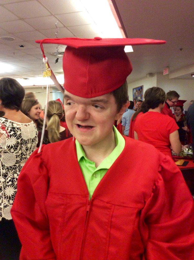Jade at his highschool graduation