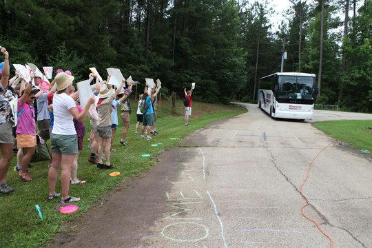 Camper Arrival Bus