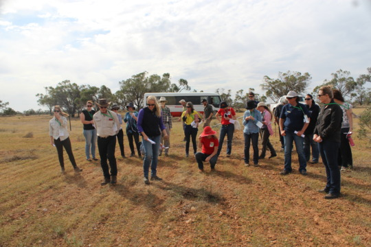 State Landcare Delegates viewing grass trials