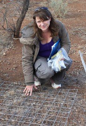 Volunteer Tracey Conducting Vegetation Surveys