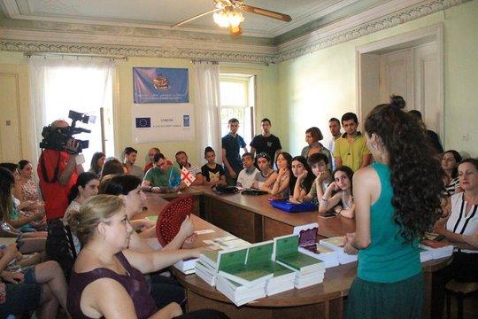 Discussion in Kutaisi, Imereti, August 2015