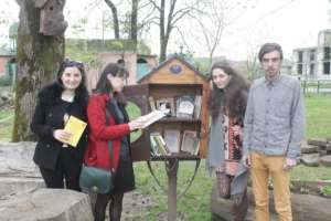 Library box in Ozurgeti Park, Georgia