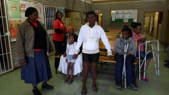 Vuyokazi and Nomawethu when she was able to walk.