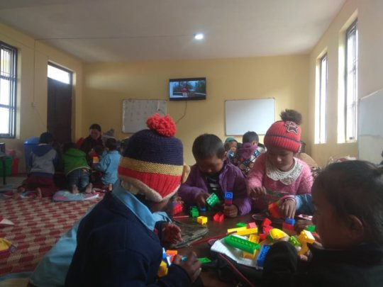 A vibrant classroom in Gorkha before the Crisis