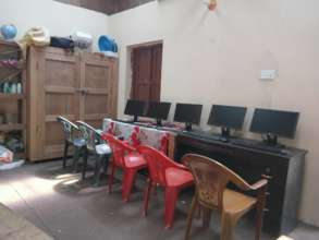The computer Lab being set up at Keraunja School