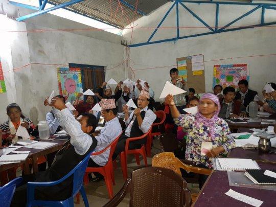 Manbu Teachers during a session