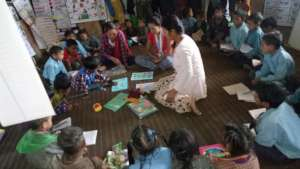 A vibrant and resourceful classroom in Maila