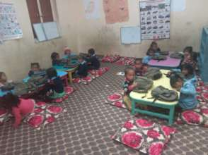 An upgraded early childhood classroom