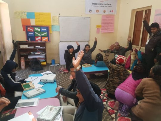 A vibrant classroom in Remote Gorkha