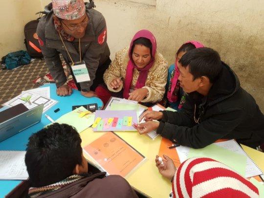 A teacher training session