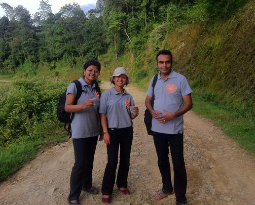 NTTI Master Trainers (Sumi, Sita and Bikash)