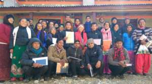 Teachers of Kerauja Village after a PHASE Training
