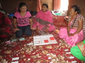 Teachers of target schools receiving  trainings
