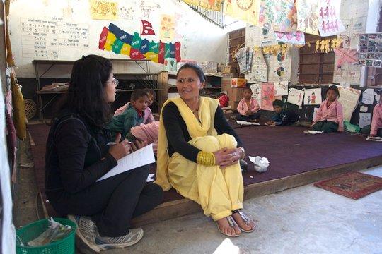 Sumi coaching a teacher