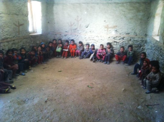 A typical deprived classroom in Bajura