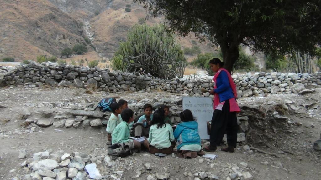 Observation of teacher in Kolti, Bajura