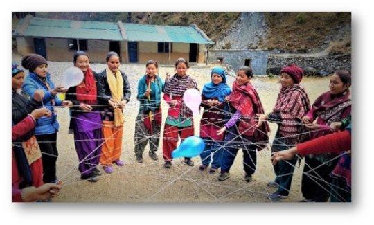 A girl empowerment training session , Bajura