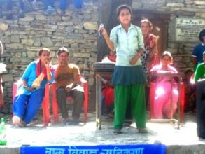 Samjhana, student from Kolti