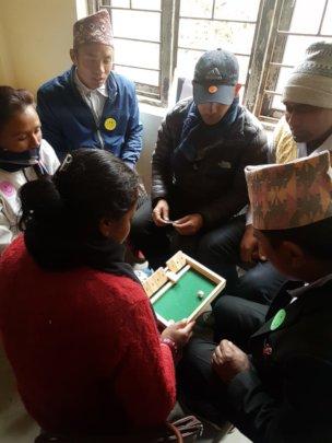 An interactive teacher training session.
