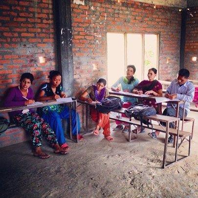 Teachers taking class