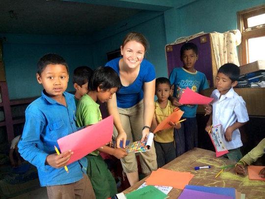 Volunteer teacher at Her Farm