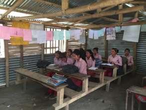 Temp. classroom, Bhagwati Lower Secondary School