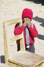 A student at Deurali Primary School