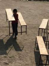 ETC-supplied desks for a primary school