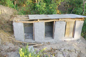 ETC is building this toilet at Jalpeswori School