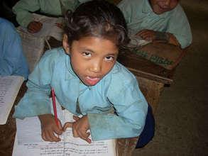 Girl in grade 2 at Manedanda PS
