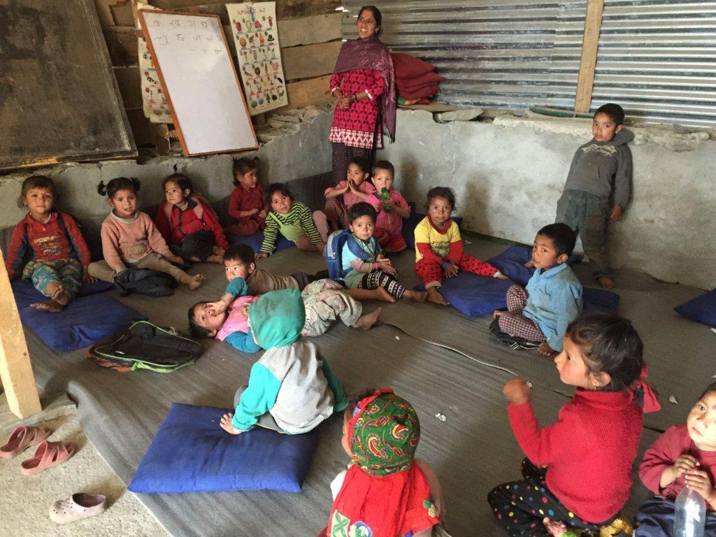 Pre-K students in existing Tettishkoti classroom