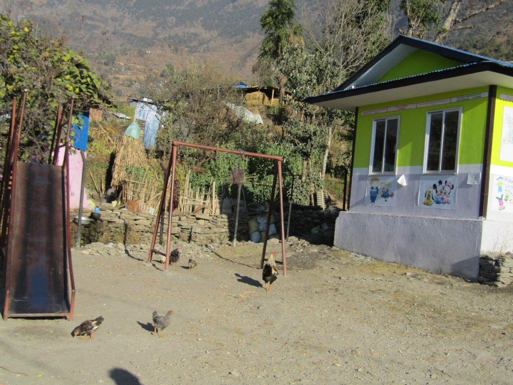 New swings and slide at Guranse Primary School