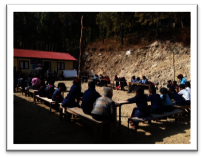 Spelling competition at Pokhare School