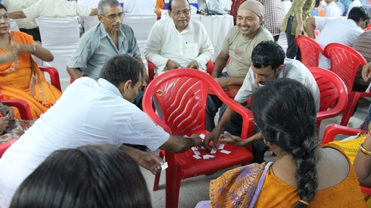 Teachers in Bihar playing skills games