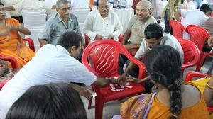 Teachers in Bihar playing skills games