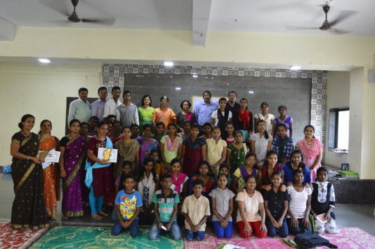 Parents & Children at a felicitation program