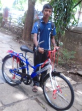 Bicycle helps Shubham to attend college on time