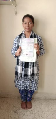 Aarti with her 12th std. Board results