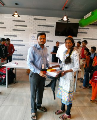 Stationery distribution Day for sponsored students